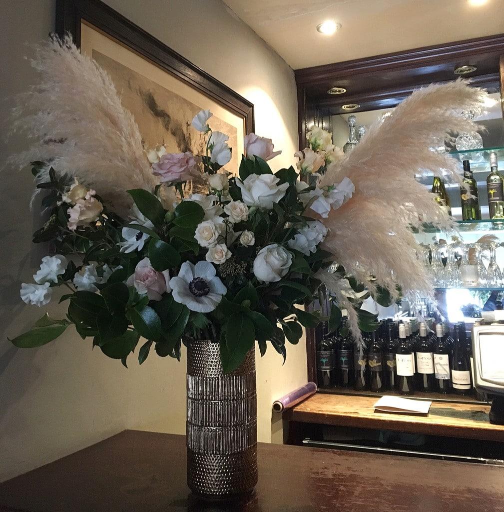 bar flowers floral design by London event florist